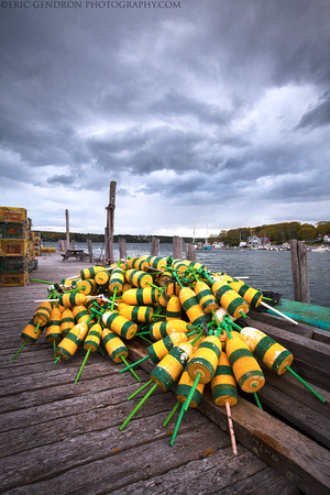 Maine Buoys and Storm Clouds