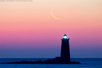 Crescent Moon Over Whaleback