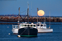 Moon Rise Over Rye Harbor