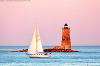Whaleback Lighthouse and Sailboat