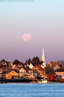 Supermoon Over the South End