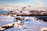 Winter Evening at Nubble Light