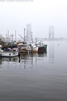 Portsmouth Fishing Boats in the Fog