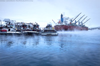 Sea Smoke in Portsmouth Harbor